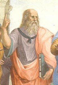 Platone La scuola di Atene Primo piano