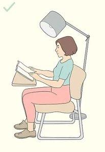 Una postura corretta nella lettura