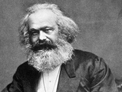 Primo piano di Karl Marx