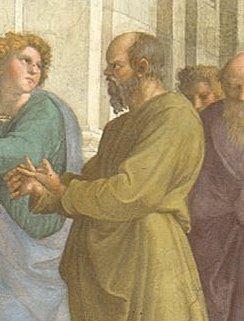 Socrate nella Scuola di Atene di Raffaello - Socrate riassunto